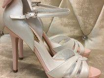 Braut Schuhe Elfenbein, hohe Absätze, Leder,Sandal