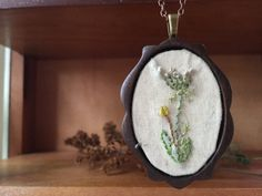#Jewelry  #Necklace  #Fiber # thehornet'snest  #hand #embroidery  #needlework  #wood #jewelry #pendant  #gift  #christmas gift #sweet  #queen anne's lace  #delicate jewelry  #floral necklace  #embroidered #flowers