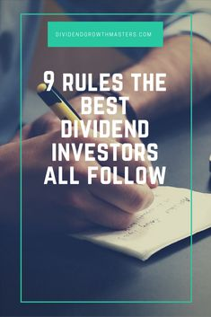 9 rules of successful dividend investing. Use these rules to achieve passive income retirement! Never chase yield. Don't go dumpster diving. Pay up for quality. Don't be afraid to sell. Diversification is important…Click through to read the rest! Real Estate Investment Fund, Buying Investment Property, Investing For Retirement, Investment Tips, Investment Portfolio, Early Retirement, Retirement Funny, Retirement Quotes, Investment Companies