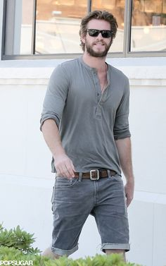 Liam Hemsworth smiled during an outing in LA.