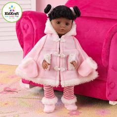 "KidKraft 18"" Susan Doll, African American with Black Hair"