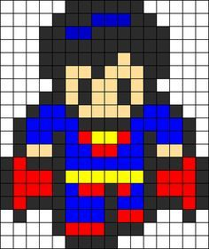 Superman perler bead pattern