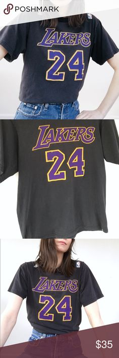 e19ba4dc825 LA Lakers tee Vintage Lakers t shirt, no 24 Kobe Bryant. Some minor signs  of wear.