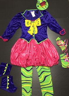 Mad Hatter Costume Junior Small Size 3-5 Alice in Wonderland Halloween Outfit  #CaliforniaCostumeCollections #CompleteOutfit