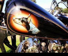 doberman motorcycle painted