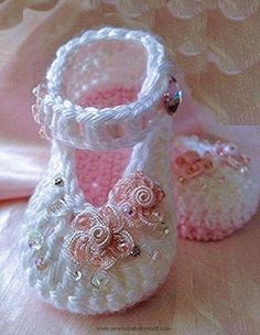 Crochet Child Booties ♥♥ Crochet Baby Booties Supply : ♥♥… by debozark