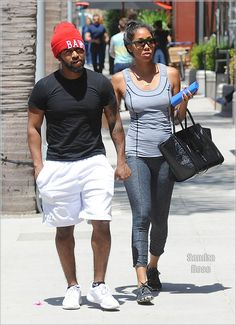 Omarion and his girlfriend Apryl Jones