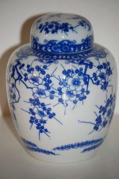 Vintage Porcelain Ginger Jar by MidwestAtticTreasure on Etsy, $19.00