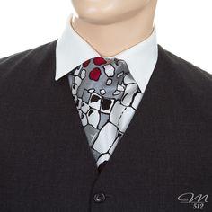 Krawattenschal Crazy Mosaik - Manufaktur 512 - Einzigartige #Accessoires in #Handarbeit. +++ #Krawattenschal #fashion #handmade #manufaktur