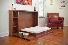 Who knew: Murphy Pet Bed Is A Classy Folding Bunk For Your Spoiled Dogs- nice way to hide away doggy beds when guest come, etc