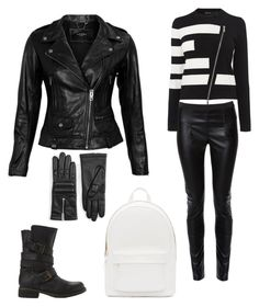 A fashion look from August 2015 featuring long sleeve tops, lamb leather jacket and faux leather pants. Browse and shop related looks. Faux Leather Pants, Leather Jacket, Karen Millen, Steve Madden, Long Sleeve Tops, Biker, Fashion Looks, Polyvore, Jackets