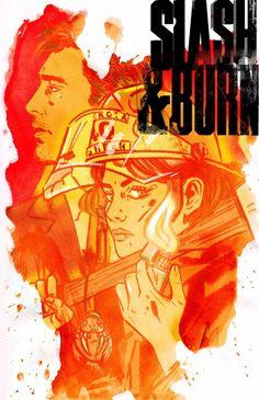 Slash & Burn #1 cover, art by Tula Lotay