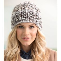 Free knitting patterns - how to knit a hat - color clouds yarn