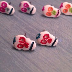 Sugar Skull Earrings Day of the Dead Dia De Los by StudioPasat