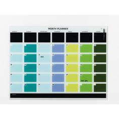821c16a7ffe NAGA Magnetisk glastavle med månedsplan, farvet - køb til fast lav pris -  Lomax A