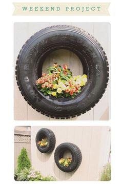 Ways to Reuse Tires in Your Garden