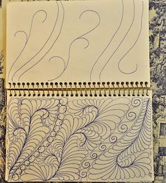 May Your Bobbin Always Be Full: Sketch Book......Feathers Filling Space