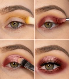 Step by Step Halo Eye Make Up Tutorial. Rotes Augen Make Up mit Schritt für Schritt Schmink-Anleitung. Augen Make Up Inspiration zum Nachschminken zu Hause. Rotes AMU mit der Lethal Cosmetics Jolina Eyeshadow Palette. #eyemakeup #augenmakeup #makeuptutorial