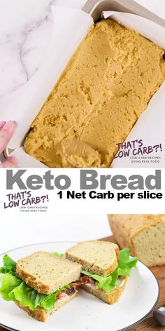 Eating Diet Videos THE BEST Keto Bread made with almond flour is the low-carb solution to your fluffy, delicious bread needs, proving low carb doesn't mean cutting out the bread completely! Healthy Low Carb Recipes, Ketogenic Recipes, Low Carb Keto, Real Food Recipes, Diet Recipes, Cooking Recipes, Bread Recipes, Keto Carbs, Tofu Recipes