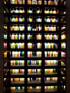 gkojaz: mnknst: theemitter: sakurasakuras: noriichi: nemoi: seiichirou: kml: tokyo designers studios (via himipop) (via City Ville, What's My Favorite Color, Doors And Floors, Color Psychology, Modern Buildings, Urban, Architecture Details, Textures Patterns, Land Scape