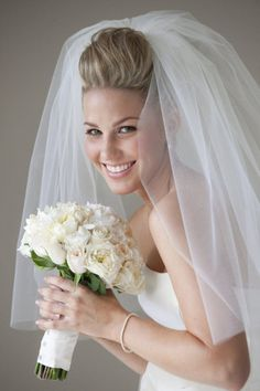 """Front View- A lot of volume """"poof"""" as I would call it. Very Bridal Glam"""