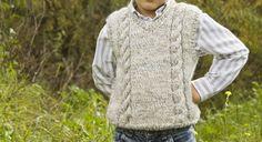 Lola y Lana Knitting For Kids, Knit Crochet, Men Sweater, Vest, Boys, Sweaters, Fashion, Men's Waistcoat, Sweater Knitting Patterns