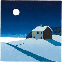 """Wolf Moon"" - Sabra Field, Printmaker"