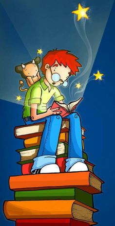 Libros are Awesome! Reading Time, Kids Reading, Love Reading, Library Posters, Library Books, I Love Books, Books To Read, Illustrations, Illustration Art