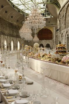 I don't know where this is, but those chandeliers are incredible. ummmm wow!!