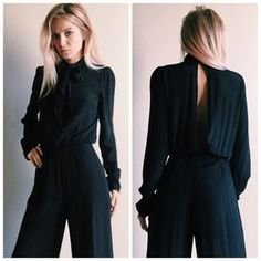 I just discovered this while shopping on Poshmark: Reformation Black Long Sleeve Jumpsuit S. Check it out! Price: $165 Size: S