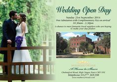 Mulberry House @MulberryHouse Mulberry House Open Day - Sunday 21st September 2014 - 10:30am-3:30pm http://www.mulberry-house.com/