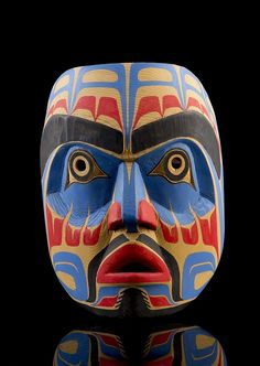 Larry Campbell, a carved and polychromed Heiltsuk Human Face