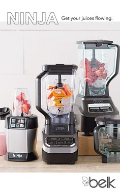 Start fresh this year with a Ninja Professional Blender. Make your favorite recipe, start juicing and make meals for your on-the-go lifestyle. With unique pausing and pulsing patterns, the Auto-iQÒ does all the work for you - no need to shake, stir or mix. Do it all with the Mega Kitchen System, complete with blender pitcher, food processor and Nutri Ninja cups! It's a professional kitchen system built to handle all of your healthy drink and meal making needs. Shop Ninja in-store & at…