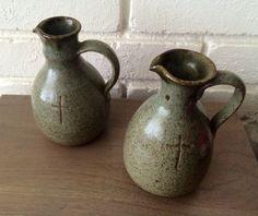 Vintage Prinknash Pottery Jugs Set of Two by PiperRoseVintage