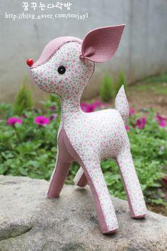 Doll making crafts] [Felt deer, deer, doll making :: Naver blog  --- I have to make this baby deer.
