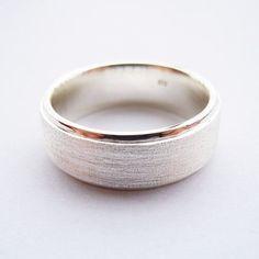 Handmade Sterling Silver Men's Wedding Ring (7.5mm)