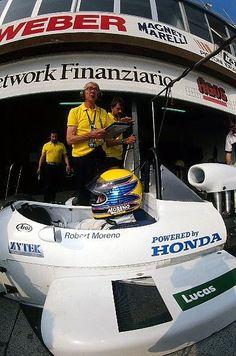 Ron Tauranac and Roberto Moreno - Ralt RT21/87 [2] Honda - Ralt Racing Ltd - 1987 Intercontinental Formula 3000 Championship - © Sutton Motorsport Images