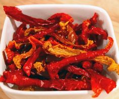 Bell Pepper Candy is crunchy, super low in calories, and gets sweeter as it dehydrates!