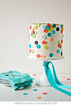 Learn how to take professional quality photos of your cakes to bring your business more buzz. Catch the eye of future customers with Beautiful Cake Photography by Carrie Sellman. Pretty Cakes, Beautiful Cakes, Amazing Cakes, Bolo Confetti, Fondant Cakes, Cupcake Cakes, Simple Fondant Cake, Kid Cakes, Polka Dot Cakes