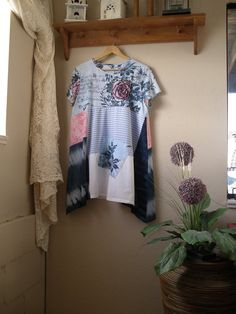 Hey, I found this really awesome Etsy listing at https://www.etsy.com/listing/249603251/lagenlook-tunic-upcycled-t-shirt-top