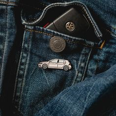 Add these limited quantity Volkswagen Golf R/GTI Soft enamel pins to your wardrobe!