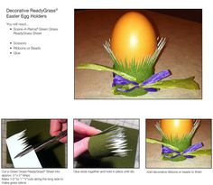 Create a holder for your Easter Eggs! This is a great way to display your brilliantly crafted eggs.