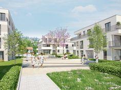 Das Neubauprojekt umfasst 2- bis 4-Zimmer-Wohnungen mit Größen von ca. 55,84 m² bis 113,71 m² Wohnfläche. Ein Projekt von Wüstenrot.