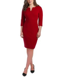 Jeetly - VICTORIA - Petite red dress