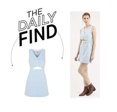 """""""Daily Find: Topshop Cutout Denim Dress"""" by polyvore-editorial ❤ liked on Polyvore featuring Topshop and DailyFind"""