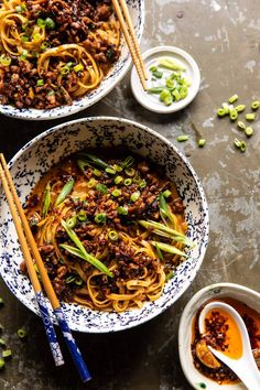 Better Than Takeout Dan Dan Noodles. - Half Baked Harvest - Better Than Takeout Dan Dan Noodles. For those nights when you're craving spicy, warming Chinese i - Most Popular Recipes, Favorite Recipes, Low Carb Brasil, Low Sodium Chicken Broth, Cooking Recipes, Healthy Recipes, Vegetarian Asian Recipes, Amish Recipes, Dutch Recipes