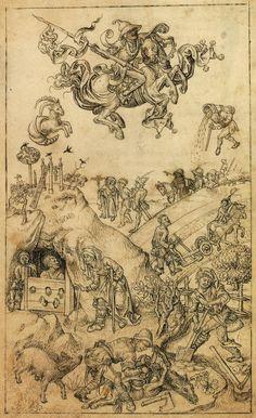Hausbuch Wolfegg: Saturn und seine Kinder (the children of Saturn)