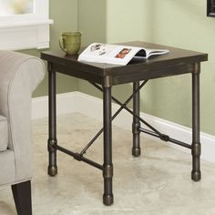Adelle Industrial End Table