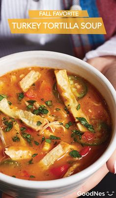 Turkey Tortilla Soup is the perfect meal to make quickly during a weeknight for your busy family. With Maggi® Granulated Chicken Flavor Bouillon, you'll have a flavorful dinner that will keep you warm this fall season.
