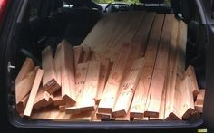 We went to our local Home Depot and had them cut all of the wood for us to make our life easier